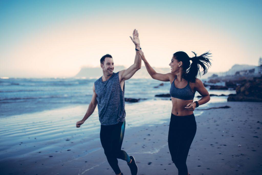 couple sport quit smoking